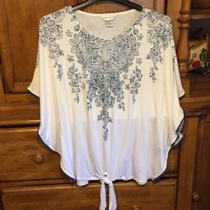 Christopher &banks butterfly sleeves blouse